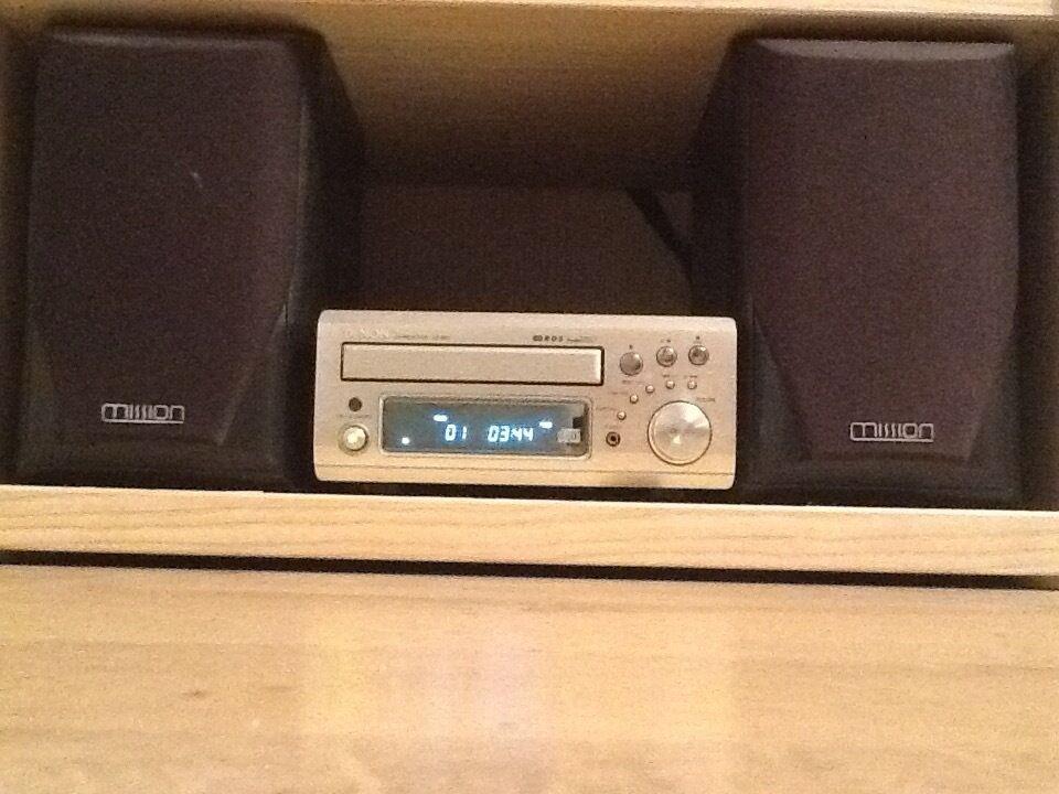 DENON CD/TUNER WITH REMOTE CONTROL