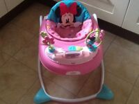 Minnie Mouse Bright Starts Baby Walker As New