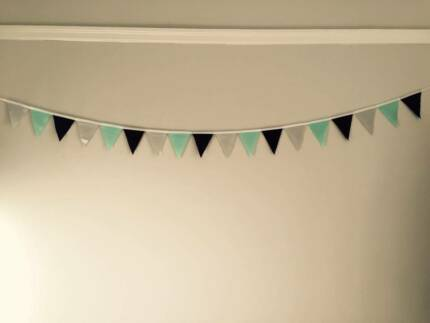6x 3m length Bunting (Grey, Purple and Green) Cremorne Point North Sydney Area Preview