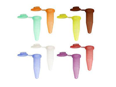 1.5ml 1.5 ml Centrifuge, Microcentrifuge Tubes Plastic Test Vials Colors (100x)