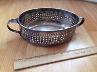 Vintage silver metal plant pot holder.