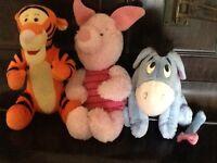 Winnie the Pooh soft teddies tigger piglet and eeyore