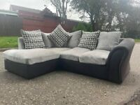 SOLD! Beautiful grey & black corner sofa delivery 🚚 sofa suite couch furniture