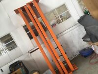 Large quantity heavy duty Warehouse pallet racking uprights & bars plus ply