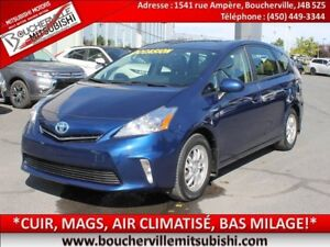2014 Toyota Prius v LUXE *CUIR, MAGS, AIR CLIMATISÉ*