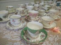 Vintage China Hire Rental - Teacups, Teapots, Cake Stands and More!