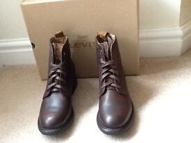 Levi Anderson Brown Leather Boots. Size 6.5