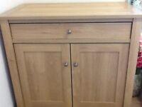 NEXT. Hideaway desk in oak effect finish