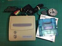 Nintendo Super Famicom Jr (SNES) with ASCII One Handed Controller & Super Gameboy 2