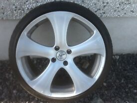 18INCH 4/100 KAHN RSC ALLOY WHEELS WITH TYRES FIT VW MINI ROVER VAUXHALL SEAT TOYOTA RENAULT ETC
