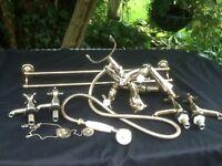 traditional gold colour bath mixer tap