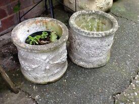 Pair of garden planters