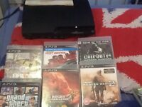 PS3 120 gb console with 2 controller and Fifa 17.