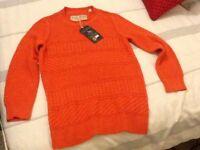 Jack wills orange jumper size 10