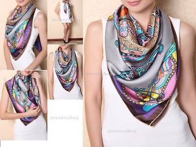 Auth Chinese Ancient Auspicious Silk Scarf Designer Scarves Women Fashion Style