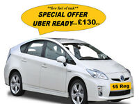 Uber ready PCO Toyota Prius Hire **Best Price 15 Reg Only From £130 P/W**