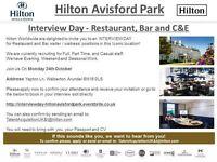 Interview Day - Hilton Avisford Park - Restaurant, Bar and C&E - Monday 24th October