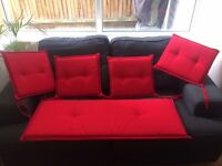 Bench & Chair Cushions - Bright Red - Unused