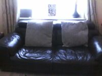2x brown couch