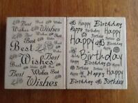 Happy Birthday & Best Wishes Rubber Stamps