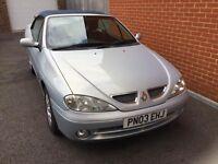 For Sale Renault Megane Priviledge+ Cabriolet 03 REG MOT Aug 17