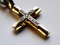 Modern 14K Gold Cross for women