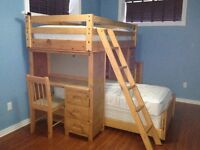 Solid Wood All-in-One Bunk Bed - OPEN TO REASONABLE OFFERS