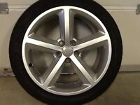 18INCH 5/112 GENUINE AUDI S-LINE ALLOY WHEELS WITH GOOD TYRES FIT VW SEAT SKODA EXCELLENT CONDITION