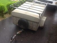 Heniemann trailer 4ft x3ft galvanised body and chassis