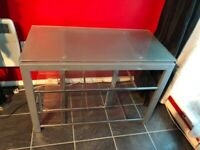 Glass TV/Entertainment stand/unit COLLECTION ONLY (Vauxhall - London) £30 ONO