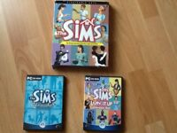 Three sims pc cd rom games