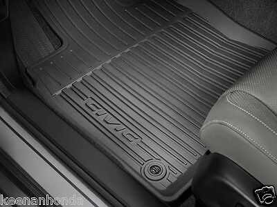 Genuine OEM Honda Civic 4  5 dr All Season Floor Mat Set 16 19 High Wall Hatch