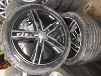 "18"" AUDI RS6 STYLE ALLOY WHEELS / TYRES - 5 X 112"