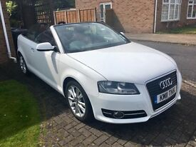 Stunning Audi A3 Cabriolet - FSH, white with red leather interior, BOSE sound system, immaculate!