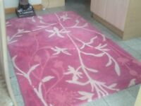 100% wool pile handmade rug 240cm x150cm(2.4m X 1.5m)from smoke&pet free home,vacuumed