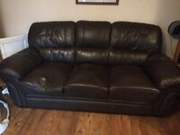 SOFA couch leather 3 seater free to good home