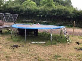 12ft Trampoline with Net and Uprights