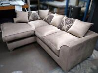 BRAND NEW DYLAN PLUSH VALVET CORNER OR 3+2 SEATER SOFA SET AVAILABLE IN STOCK ORDER NOW