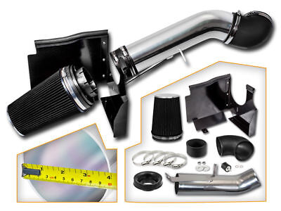"4""Cold Air Intake System+Heat Shield for 99-06 GMC/Chevy V8 4.8L/5.3L/6.0L Black"
