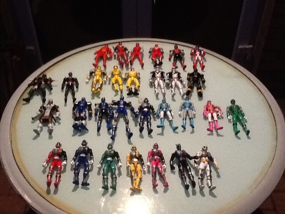 Collection of Power Rangers toys for sale