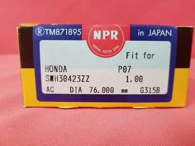NIPPON RACING PM3 D15B D15B7 FULL FLOATING PISTONS AND NPR RINGS 76MM