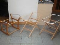 Foldable Moses basket stand is £5 and the rocker basket/bassinet stand is £10