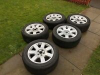 Original alloy audi wheels and tyres