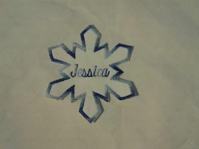 Нашивки Custom Embroidered Name Patch Snowflake