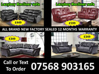 SOFA HOT OFFER BRAND NEW LEATHER RECLINER FAST DELIVERY 16438