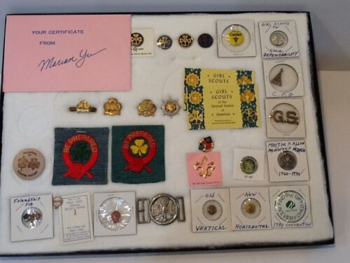 """GROUP / LOT 29 items - """" MARINER pin / buckle """" - Girl Guides Scout BSA  G&W/9-3"""