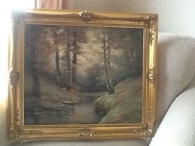 Oil on canvas landscapes and forests