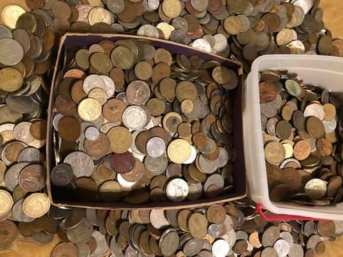MEXICO 5 POUND LOT MIXED COINS, METALS, TYPE, GRADES, DENOMINATIONS, FREE USA SH
