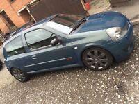 Cheap car! Swap/px diesel why? Rare car! Renault Clio sport 182 in rare petrol blue!