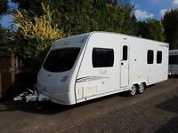 Lunar Delta TI 4 berth caravan 2009 FIXED ISLAND BED, MOTOR MOVER, AWNING !!